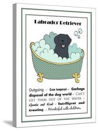 XL Black Labrador-Jennifer Zsolt-Stretched Canvas Print