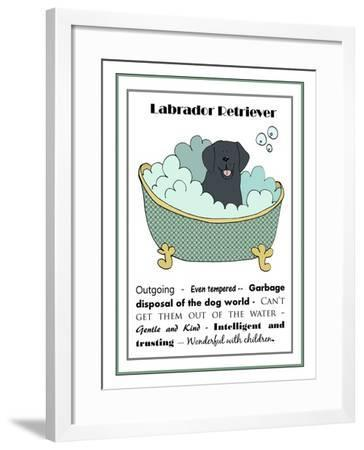 XL Black Labrador-Jennifer Zsolt-Framed Giclee Print