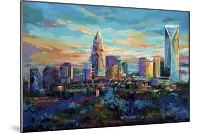 The Queen City Charlotte North Carolina-Jace D. McTier-Mounted Giclee Print