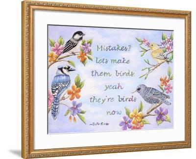 Birds and Flowers Quote-Michelle Faber-Framed Giclee Print