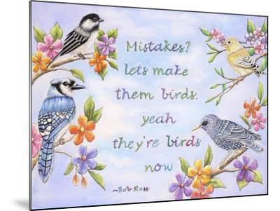 Birds and Flowers Quote-Michelle Faber-Mounted Giclee Print