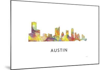 Austin Texas Skyline-Marlene Watson-Mounted Giclee Print