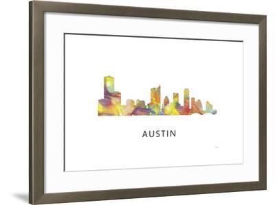 Austin Texas Skyline-Marlene Watson-Framed Giclee Print