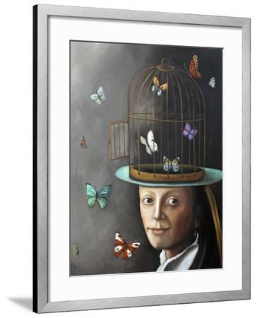 Butterfly Keeper 1-Leah Saulnier-Framed Giclee Print