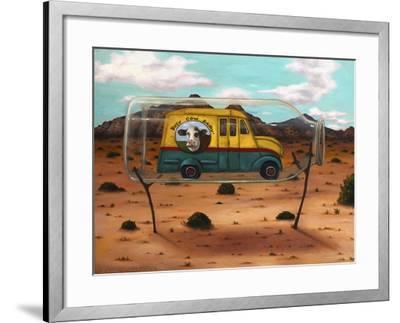Busy Cow-Leah Saulnier-Framed Giclee Print