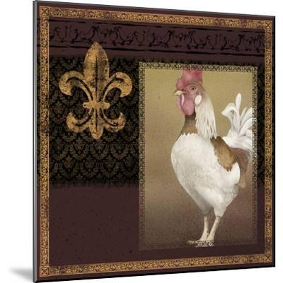 Rooster Ware Burgundy III-Kory Fluckiger-Mounted Giclee Print