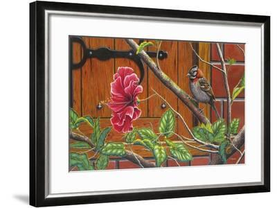 The Sparrow Who Visit Your Window-Luis Aguirre-Framed Giclee Print