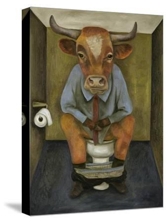 Bull Shitter-Leah Saulnier-Stretched Canvas Print