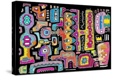 Circuits V BBG-Miguel Balb?s-Stretched Canvas Print