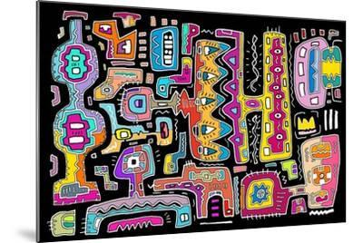 Circuits V BBG-Miguel Balb?s-Mounted Giclee Print