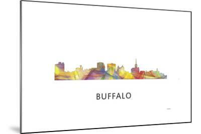 Buffalo New York Skyline-Marlene Watson-Mounted Giclee Print