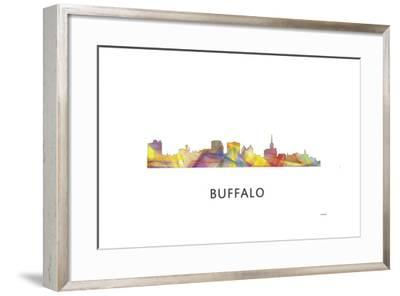 Buffalo New York Skyline-Marlene Watson-Framed Giclee Print