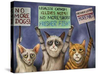 Cats on Strike-Leah Saulnier-Stretched Canvas Print