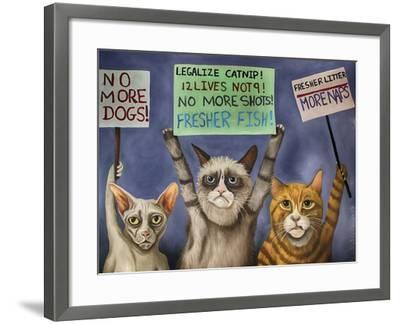 Cats on Strike-Leah Saulnier-Framed Giclee Print