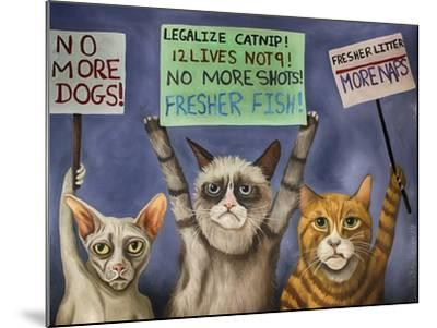 Cats on Strike-Leah Saulnier-Mounted Giclee Print