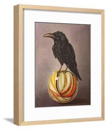 Crow on a Marble-Leah Saulnier-Framed Giclee Print