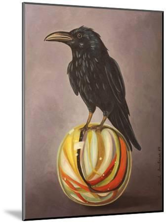 Crow on a Marble-Leah Saulnier-Mounted Giclee Print
