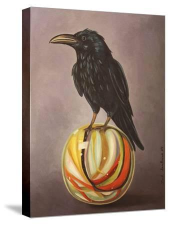 Crow on a Marble-Leah Saulnier-Stretched Canvas Print