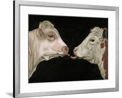 Cow Lick-Leah Saulnier-Framed Giclee Print