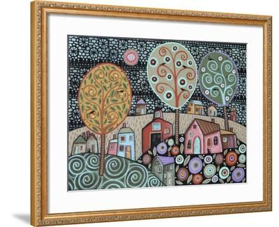 Two Cats Village 1-Karla Gerard-Framed Giclee Print