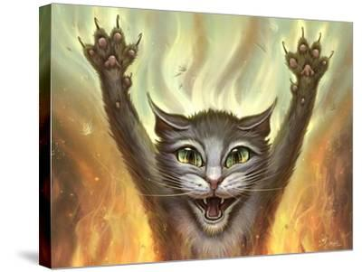 Pyscho Cat-Jeff Haynie-Stretched Canvas Print