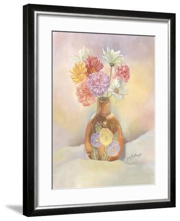 Vase of Mums-Judy Mastrangelo-Framed Giclee Print