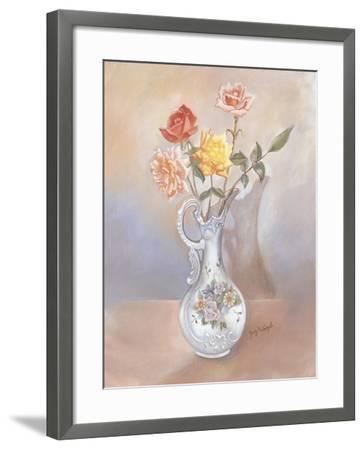 Vase of Roses-Judy Mastrangelo-Framed Giclee Print