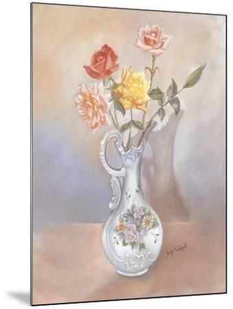 Vase of Roses-Judy Mastrangelo-Mounted Giclee Print