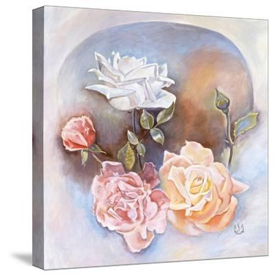 Roses-Judy Mastrangelo-Stretched Canvas Print