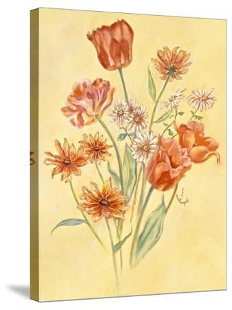Tulips and Daisies-Judy Mastrangelo-Stretched Canvas Print