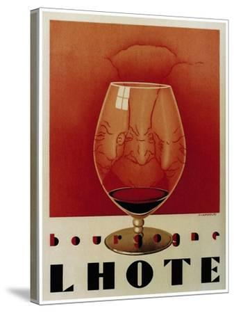 Bourgogne Lhote French Wine C.1930-Vintage Lavoie-Stretched Canvas Print