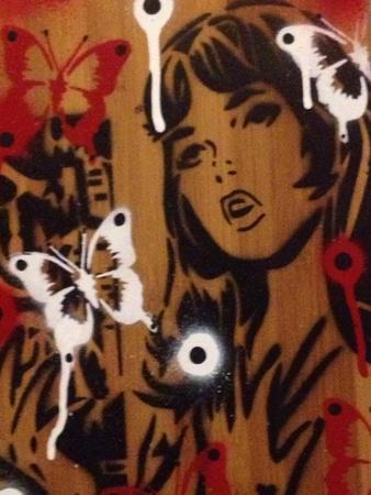 Bamboo-Abstract Graffiti-Framed Giclee Print