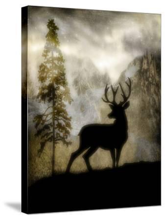 Mystic Deer-LightBoxJournal-Stretched Canvas Print