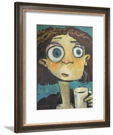 Her First Sip of Coffee-Tim Nyberg-Framed Giclee Print