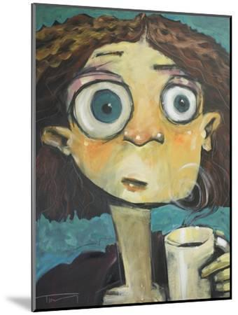 Her First Sip of Coffee-Tim Nyberg-Mounted Giclee Print
