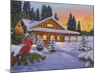 Cozy Cabin-William Vanderdasson-Mounted Giclee Print