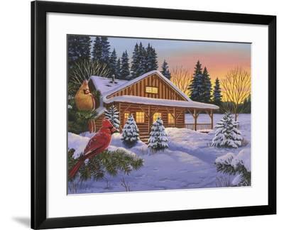 Cozy Cabin-William Vanderdasson-Framed Giclee Print
