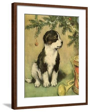 Doggy-Vintage Apple Collection-Framed Giclee Print
