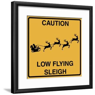 Low Flying Sleigh-Tina Lavoie-Framed Giclee Print