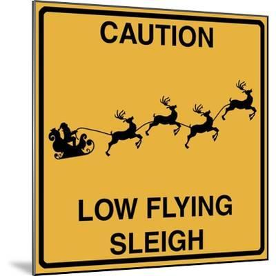 Low Flying Sleigh-Tina Lavoie-Mounted Giclee Print