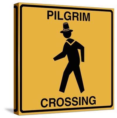 Pilgrim Crossing-Tina Lavoie-Stretched Canvas Print