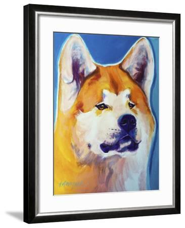 Akita - Apricot-Dawgart-Framed Giclee Print