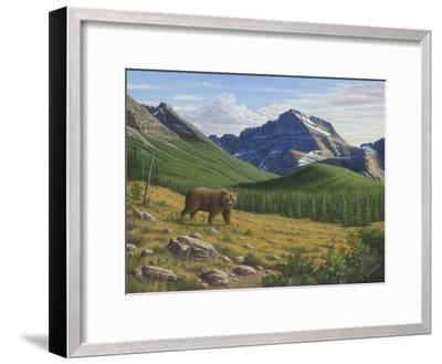 Heading Down the Slope-Robert Wavra-Framed Giclee Print
