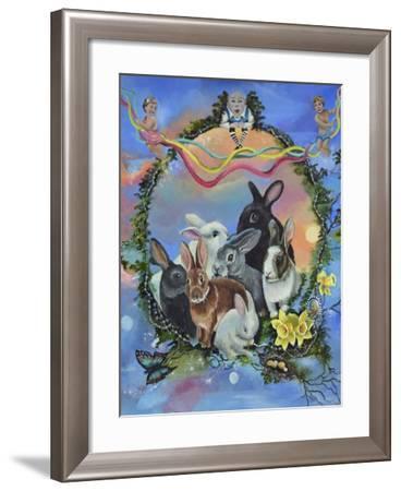 Bunny Festival-Sue Clyne-Framed Giclee Print