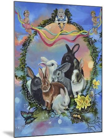 Bunny Festival-Sue Clyne-Mounted Giclee Print