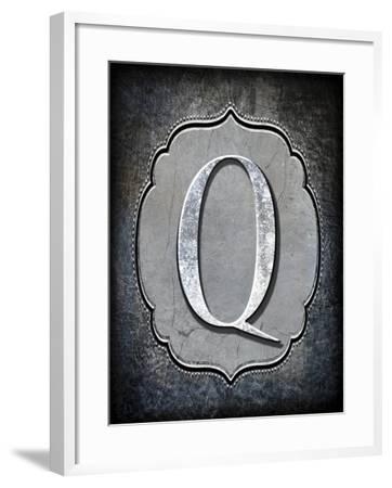 Letter Q-LightBoxJournal-Framed Giclee Print