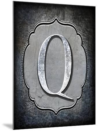 Letter Q-LightBoxJournal-Mounted Giclee Print