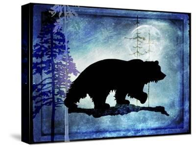Midnight Bear-LightBoxJournal-Stretched Canvas Print