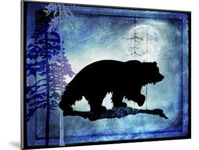 Midnight Bear-LightBoxJournal-Mounted Giclee Print