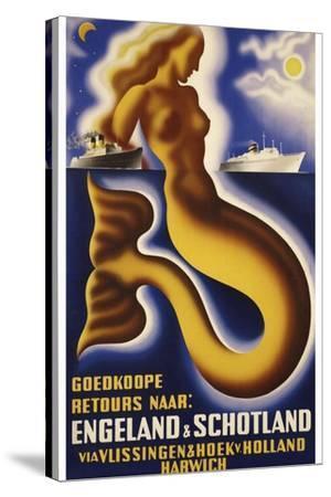 Travel Ship 0127-Vintage Lavoie-Stretched Canvas Print